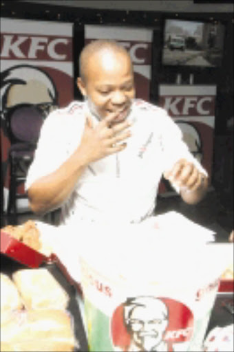2010/03/09.tjk. Tshepo Maseko at the launch and announcement of partnership between the Crazy Entertainers and KFC held at The Bank in Rosebank Johannesburg. Picture: Tshepo Kekana.