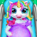 Pregnant Unicorn Mom And Baby Daycare icon