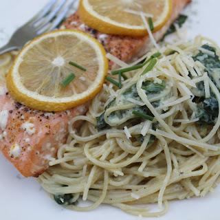 Fabulous Garlic, Parmesan and Spinach Pasta