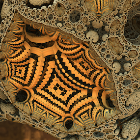 The Glow by Glenda Popielarski - Illustration Abstract & Patterns ( m3d, abstract art, fractal art, digital art, mandelbulb 3d, gold, yellow, mb3d, fractals )
