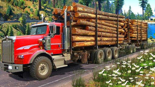Code Triche Heavy Logging Cargo Truck Transport Simulator APK MOD screenshots 4