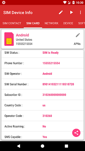 SIM Device Info 1.0.9 screenshots 1