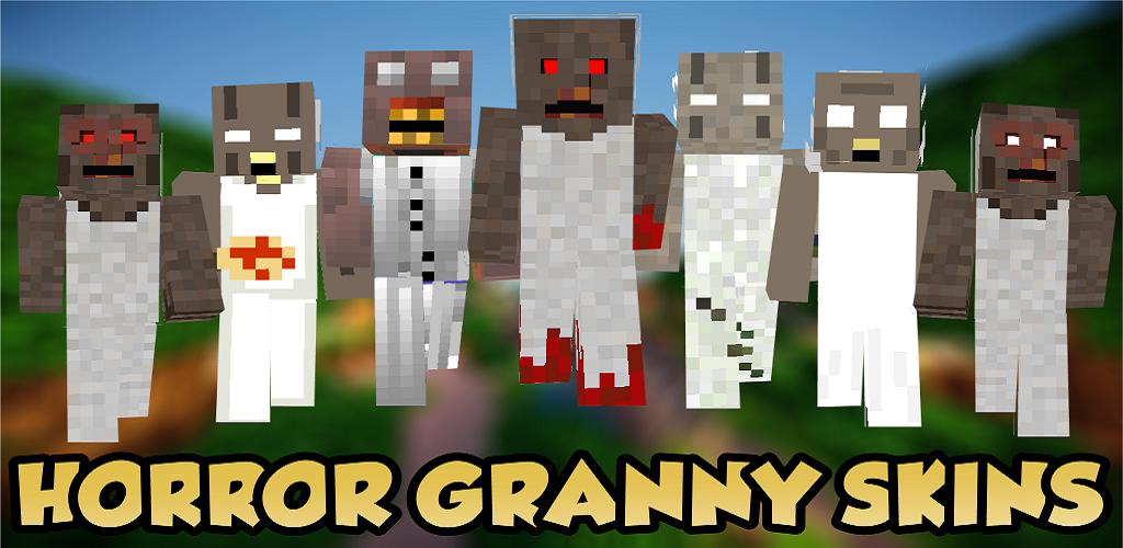 Horror Granny Skins For Minecraft PE APK Download Com - Horror skins fur minecraft
