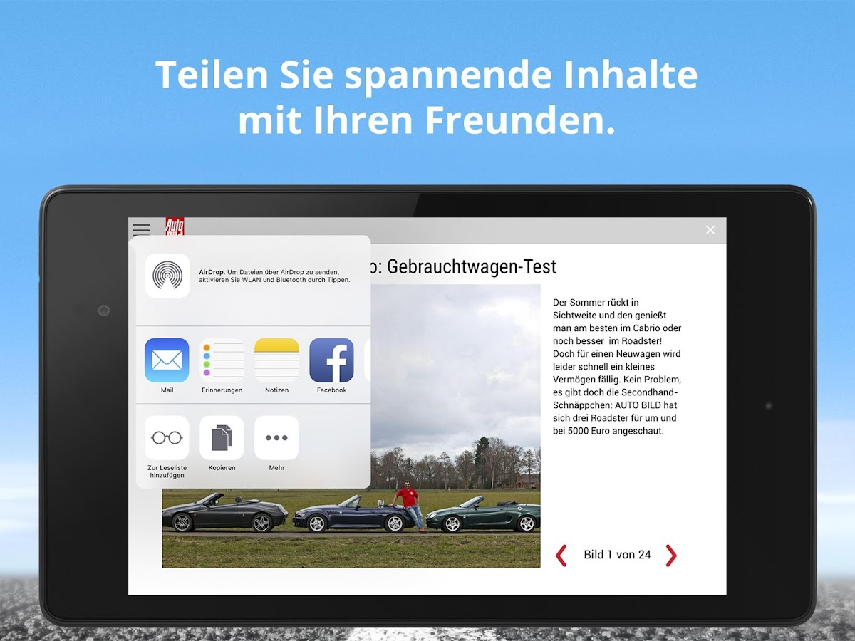 Auto bild auto news emagazine screenshot