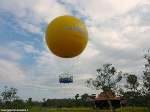 Photo: #013-Survol du site d'Angkor en ballon captif.