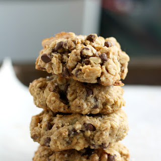 Salted Chocolate Chip Oatmeal Cookies.