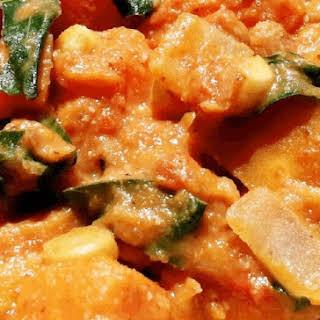 Leftover Veggie Chickpea Omelette.