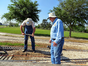 Photo: Now Ken Smith works and Bill Howe watches in amazement that the hole is getting deep fast.   HALS Public Run Day 2014-0419 RPW  10:06 AM