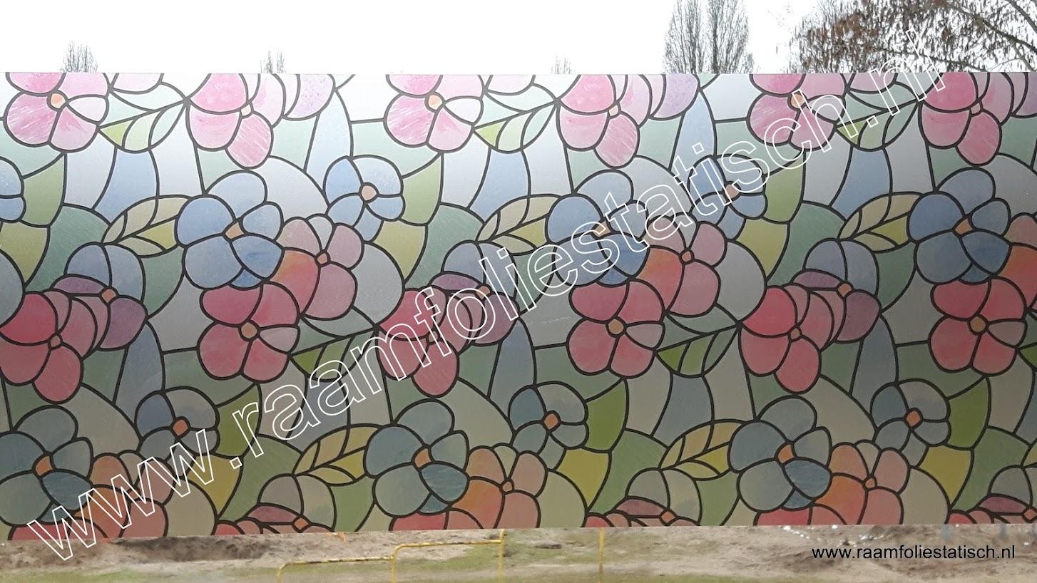 Raamfolie bloemen kleuren transparant d c fix for Plakfolie decoratie