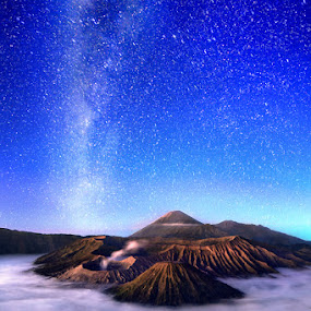 milky at bromo by Erick Gracia - Landscapes Mountains & Hills