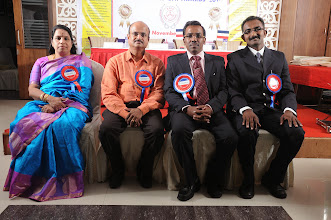 Photo: Chief Guests, Dr. V. Padmavathy, Mr. A. Devi Dutt   and Guest of Honour, Mr. Bobby A. Mathew with Prof. Dr. R. Ganesan, Chairman, NFED