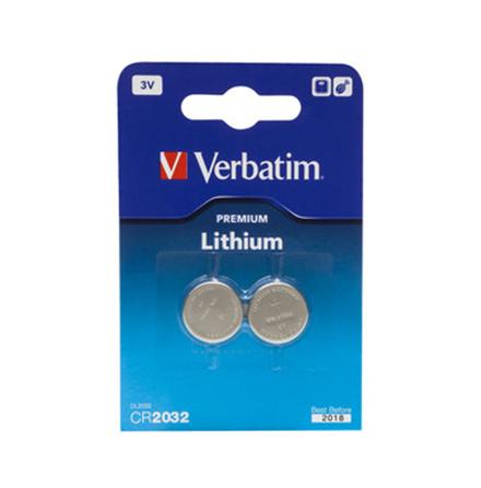Verbatim - Batteri 2 x CR2032 Li