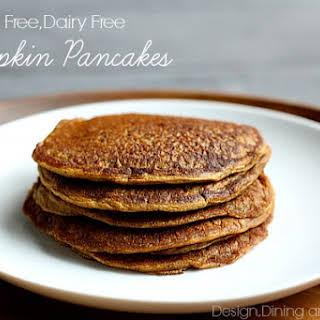 Mouthwatering Gluten Free Dairy Free Pumpkin Pancakes.