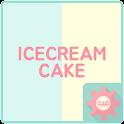 아이스크림케이크 (민트바나나) - 카카오톡 테마 icon