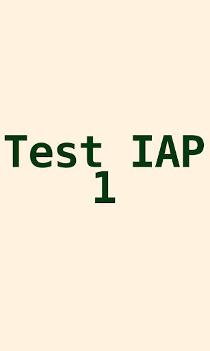 Test IAP