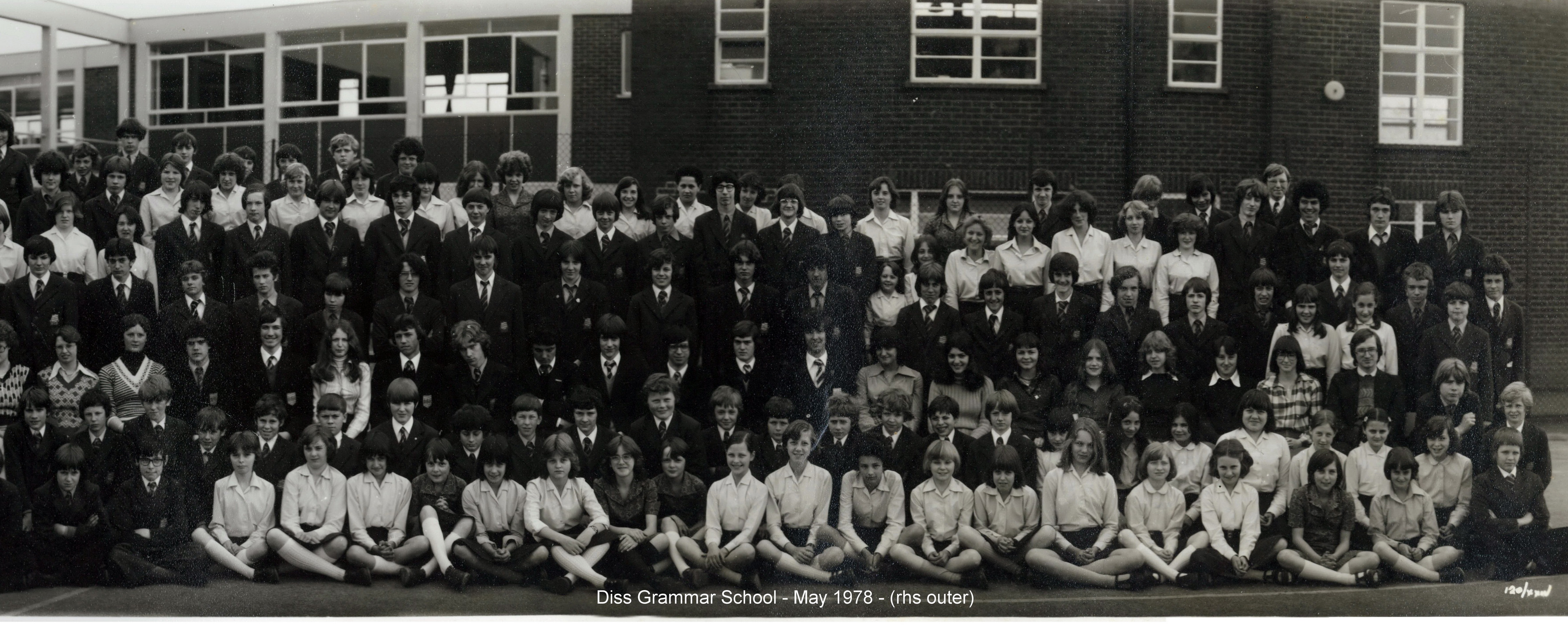 Photo: Diss Grammar School - May 1978 - rhs outer (Thanks to Helen McGuinness)