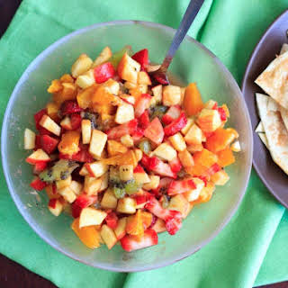 Fruit Salsa With Cinnamon Chips.