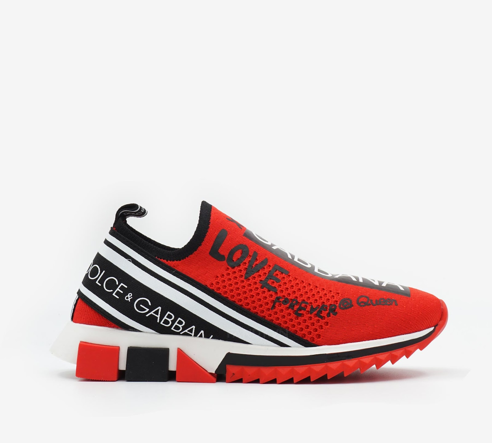 "Giày Dolce & Gabbana Sneakers In Sorrento Graffiti Print "" Red """