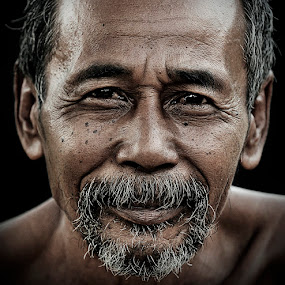 Little Smile by Chegu Diman - People Portraits of Men ( chegu diman human interest manipulation, senior citizen )