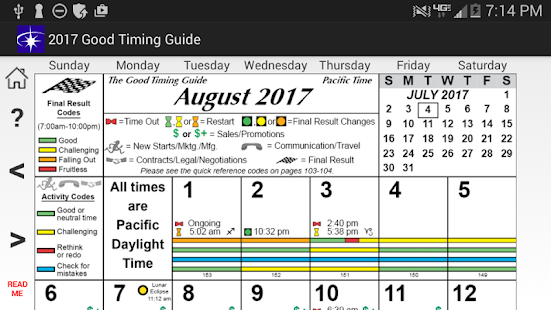 Good Timing Guide 2017- screenshot thumbnail