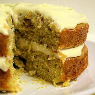 Parsnip And Ginger Cake With Maple Frosting.