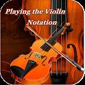 jugando la notación violín icon