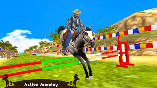 Horse Riding Simulator 3D : Jockey Mobile Game apktreat screenshots 2