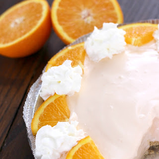Orange Creamsicle Pie.