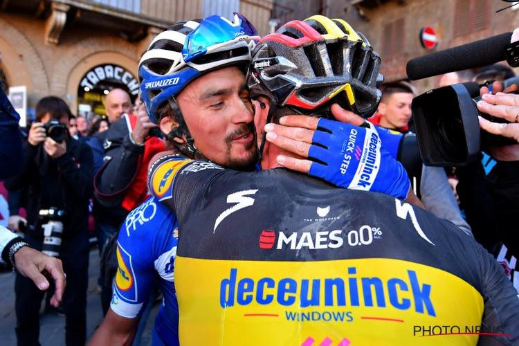 """Het plan van Deceuninck-Quick.Step uit de doeken: """"Eerst spelen met Gilbert en Alaphilippe, daarna eventueel sprinten met Viviani"""""""