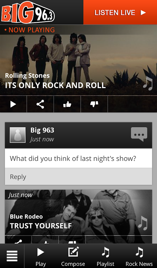 96.3 BIG FM- screenshot