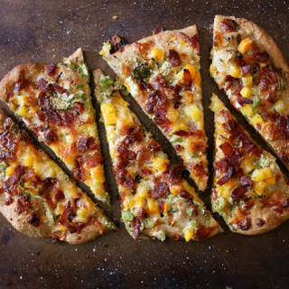 Bacon Brussels Sprouts Butternut Squash Flatbread.