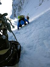 Photo: Last steep slope below the col