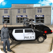 US Police Limousine Car & Bike Transporter