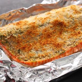Basic Baked Breaded Salmon.