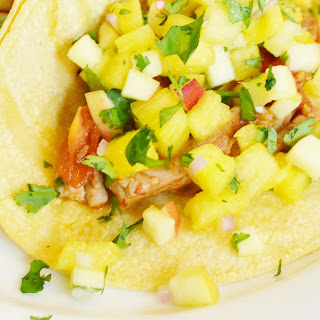 Chipotle Pork Soft Tacos with Pineapple Salsa.