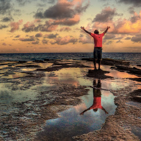 Gratitude by AJ Schroetlin - People Portraits of Men ( water, sky, color, sunset, ocean, aj schroetlin )