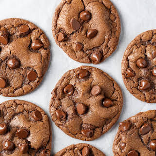 Double Chocolate Chip Nutella Cookies.