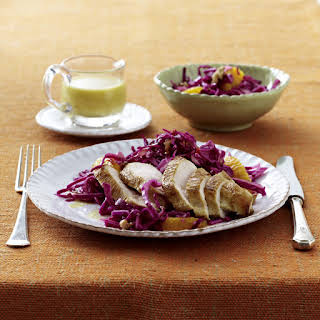 Chicken Breast with Fruity Red Cabbage Salad.