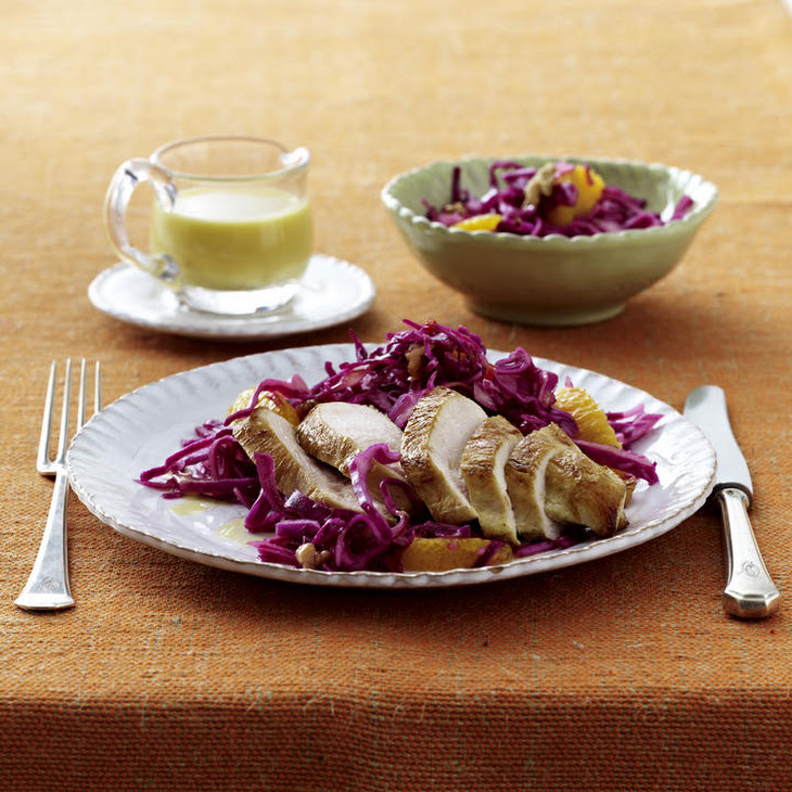 Chicken Breast with Fruity Red Cabbage Salad