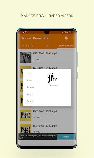 FastVid: Video Downloader for Facebook 4.3.12 Screenshots 5