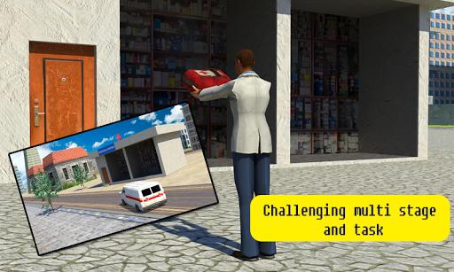Pharmacy Delivery Van 3d Sim