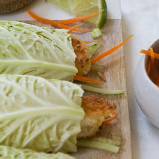 Cabbage Coconut Shrimp Rolls