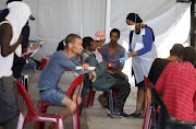 Healthworkers are providing assistance to the homeless being housed at the Strandfontein camp.
