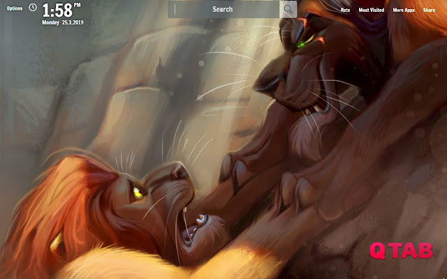The Lion King New Tab Wallpapers
