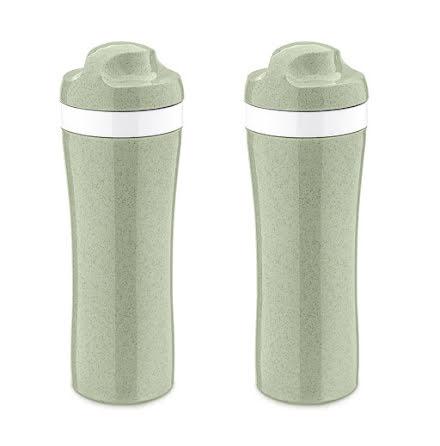 2-pack OASE Vattenflaska 425ml, Organic grön