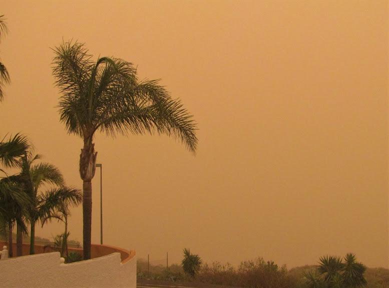 Последствия урагана на Тенерифе.