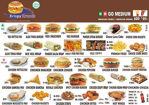 Krispy Krunch menu 3
