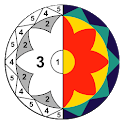 Mandala Color By Number Happy Coloring Book icon