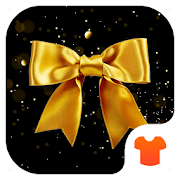 Gold Glitter Launcher Theme