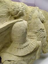 Photo: Relief with a Macedonian cavalry man .......... Reliëf met een Macedonische ruiter